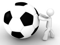 Push the soccer ball Royalty Free Stock Images