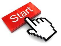 Push start button Royalty Free Stock Photo