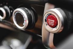 Push Start and Stop,Button to start Stock Photos