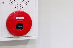 Push switch fire alarm and the alarm speaker Royalty Free Stock Image