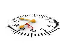 Push the time Stock Photos