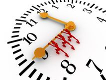 Push the time Stock Images