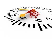 Push the time Royalty Free Stock Photography