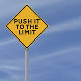 Push It to the Limit. A conceptual road sign indicating Push It to the Limit Royalty Free Stock Photos