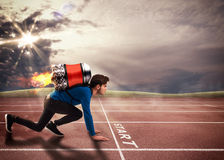 Push to overcome obstacles Royalty Free Stock Image
