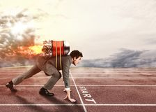 Push to reach the goals before the others Royalty Free Stock Image