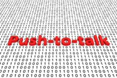 Push to talk. In binary code, 3D illustration Royalty Free Stock Photography