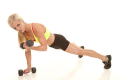 Push up arm curl Stock Photos