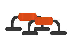 Push up bars icon Royalty Free Stock Images