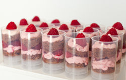 Push up cake pop with raspberry and chocolate Stock Image