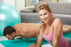 Push up exercise Royalty Free Stock Photography