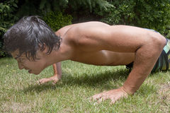 Push up exercise Stock Images