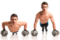 Push Up Exercise stock image