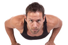 Push up intense Stock Image