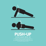 Push Up Sport Sign. Vector Illustration Stock Images