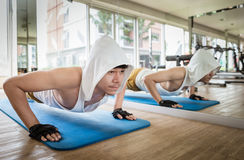 Push up Workout Royalty Free Stock Photography