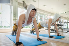 Push up Workout Stock Images
