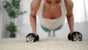 Push ups stock footage