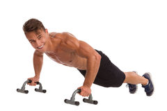 Push Ups With Handles Royalty Free Stock Image