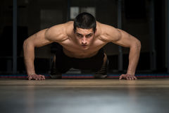 Push-Ups Lower Position Royalty Free Stock Images