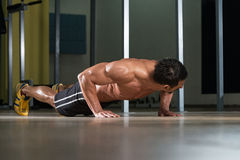 Push-Ups Lower Position Stock Images