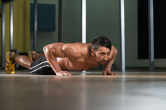 Push-Ups Lower Position Stock Photos