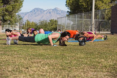 Push Ups Training Outdoors Stock Image