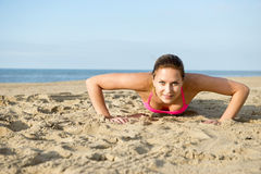 Push ups workout Royalty Free Stock Photography