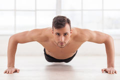 Push-ups. Royalty Free Stock Image