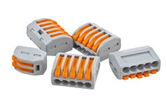 Push-wire connector Stock Photos