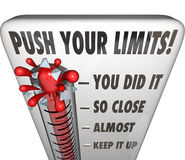 Push Your Limits Try Effort Thermometer You Did It Royalty Free Stock Photos
