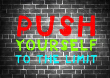 PUSH YOURSELF Royalty Free Stock Image