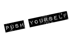 Push Yourself rubber stamp Royalty Free Stock Photos