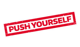 Push Yourself rubber stamp Stock Photos