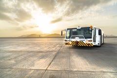 Pushback tug on Medina airport stock images