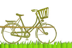 Pushbike from green leave Royalty Free Stock Photos