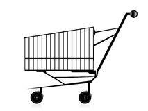 Pushcart. On isolated with abstract background Stock Images