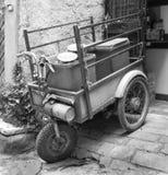 Pushcart in Calcata engine royalty free stock photo