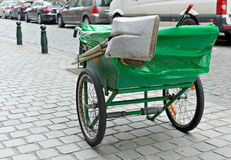Pushcart of municipal street cleaning service Stock Images