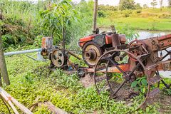 Pushcart with pump. For agriculture Stock Photography