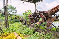 Pushcart with pump. For agriculture Royalty Free Stock Image