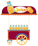 A pushcart selling orange juice. Illustration of a pushcart selling orange juice on a white background Royalty Free Illustration