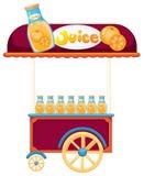 A pushcart selling orange juice Stock Images