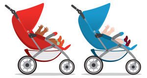 Pushchair. The figure shows a pram Stock Photography