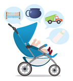 Pushchair. The figure shows a pram Stock Photo