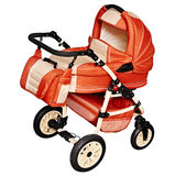 Pushchair for transporting children in winter Stock Image