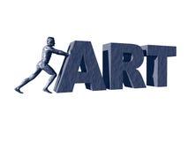 Pushing art Royalty Free Stock Image