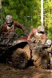 Pushing ATV Vehicles stock photo