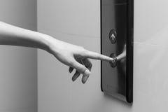 Pushing button. Stock Photo