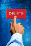 Pushing delete button Royalty Free Stock Photo